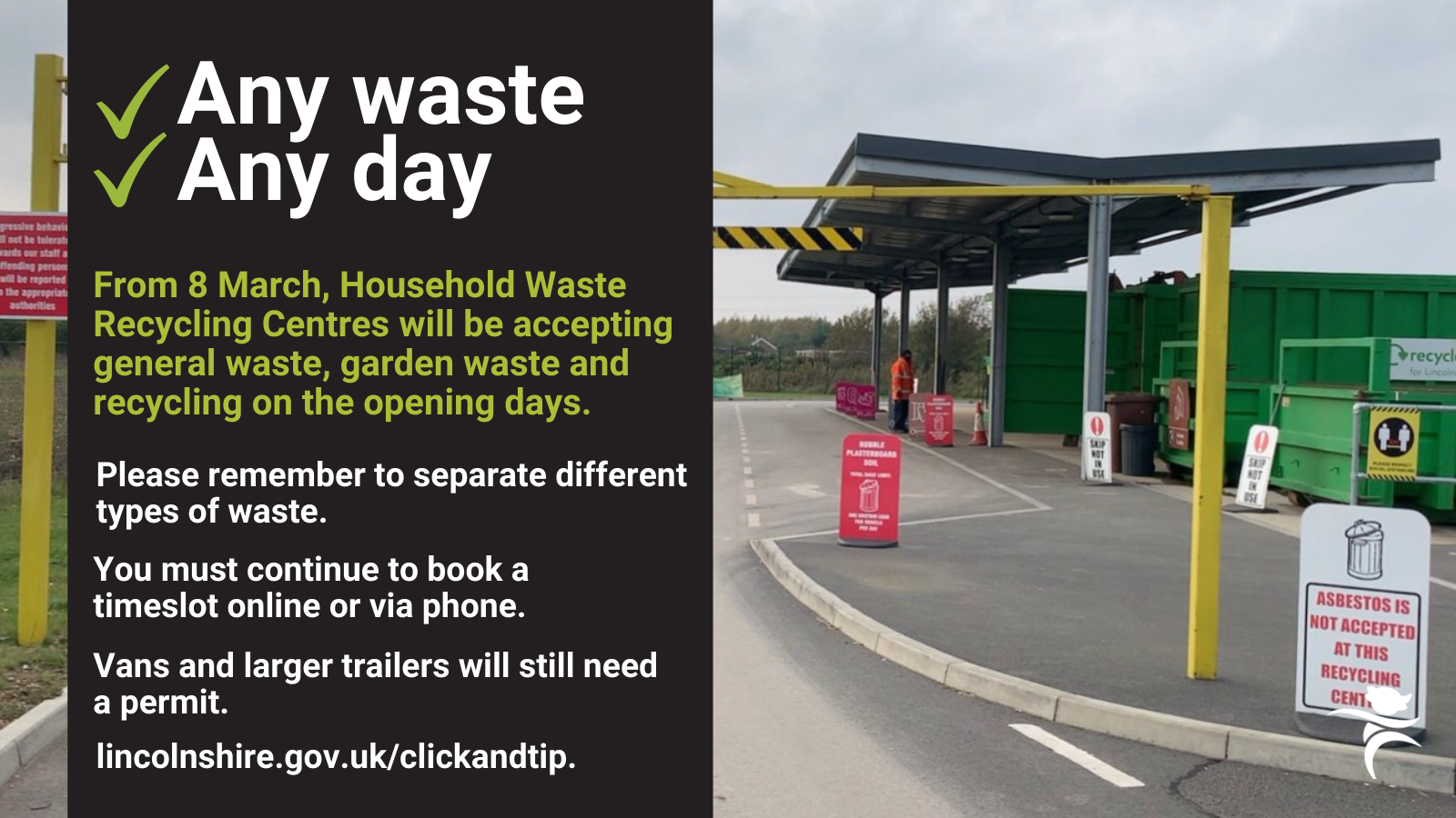 Household Waste Sites opening times